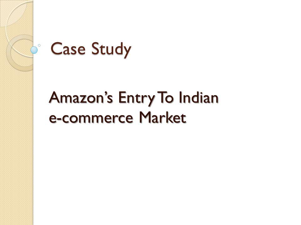 e-commerce case study amazon