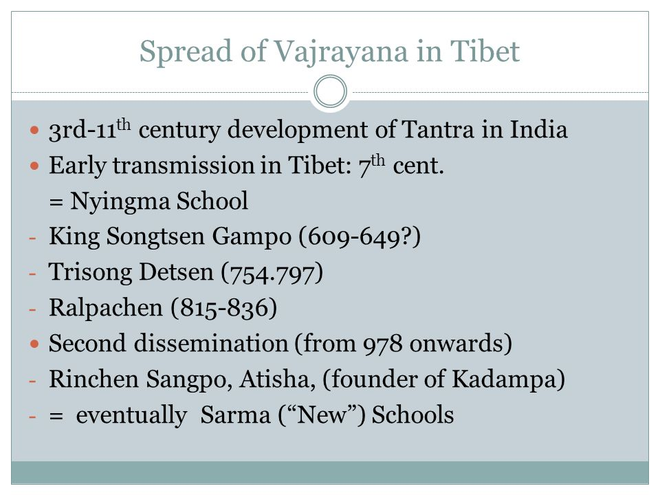 Spread of Vajrayana in Tibet