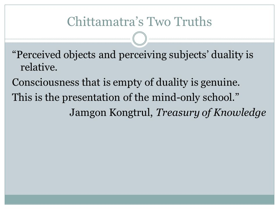 Chittamatra's Two Truths