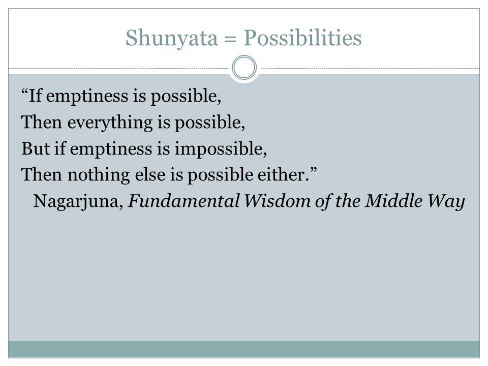 Shunyata = Possibilities