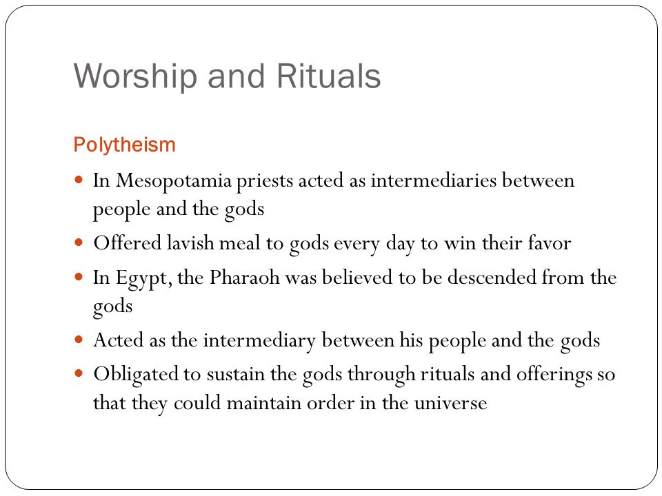 beliefs in polytheism mesopotamia vs egypt Compare and contrast of egyptian and mesopotamian religions and religion mesopotamia used irrigation and developed cities with governments and formed new religious thoughts based off of the unknown egypt and mesopotamia are both polytheistic.