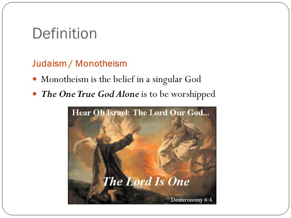 how do monotheistic beliefs in morals Monotheism is a religion or belief system that involves just one god plus what the mass of the actual followers do and believe.