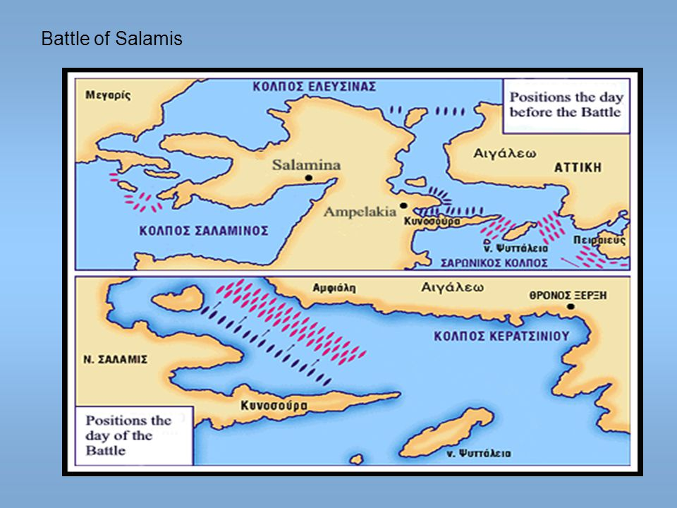 battle of salamis and better strategic The battle of artemisium was a series of naval the battle, with the allies having fared better than they allies at the battle of salamis were.