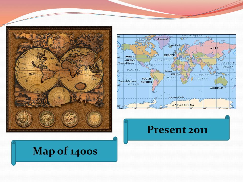 Present 2011 Map of 1400s