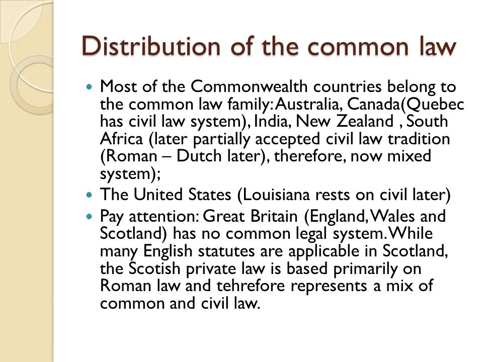 civil and common law countries Rights and freedoms under the common law other common law countries with strong traditions of civil and political rights have not had bills of rights until.
