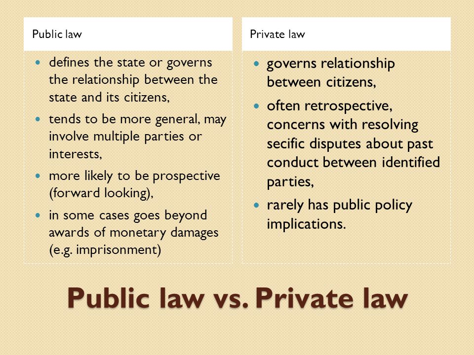 Difference Between Public and Private Law