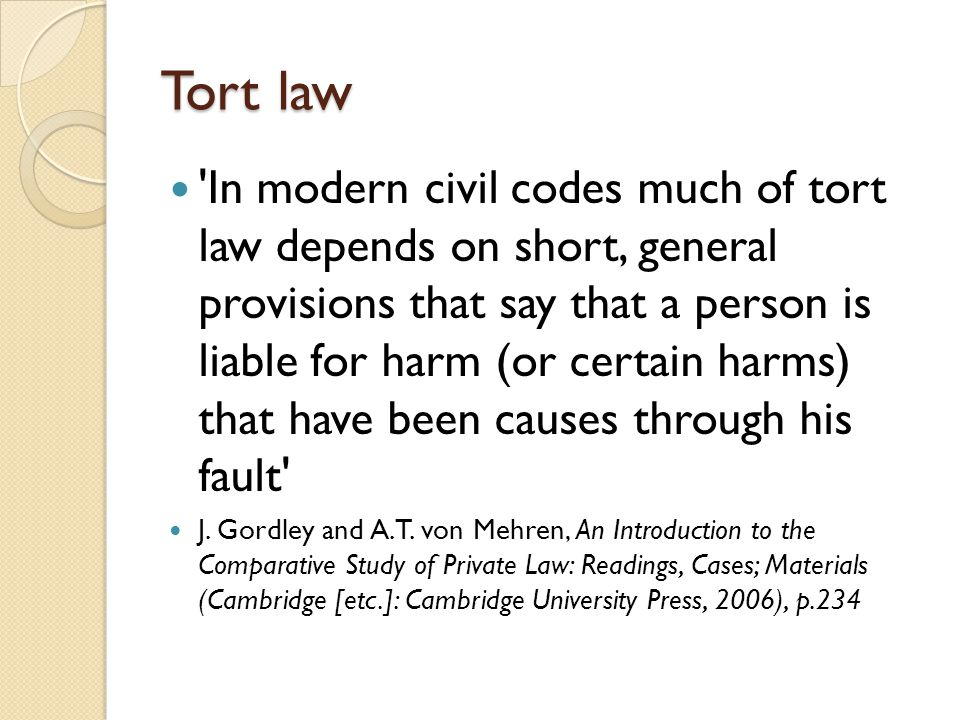 law of tort case study Topic: torts & statutory governmental immunity  case study  the court is  whether the school district is immune, as a matter of law, under.