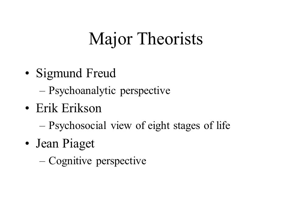 Erikson's Eight Stages of Psychosocial Development