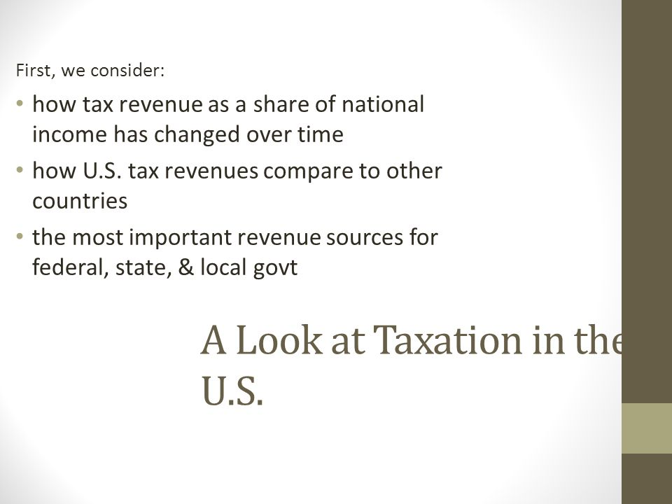 A Look at Taxation in the U.S.