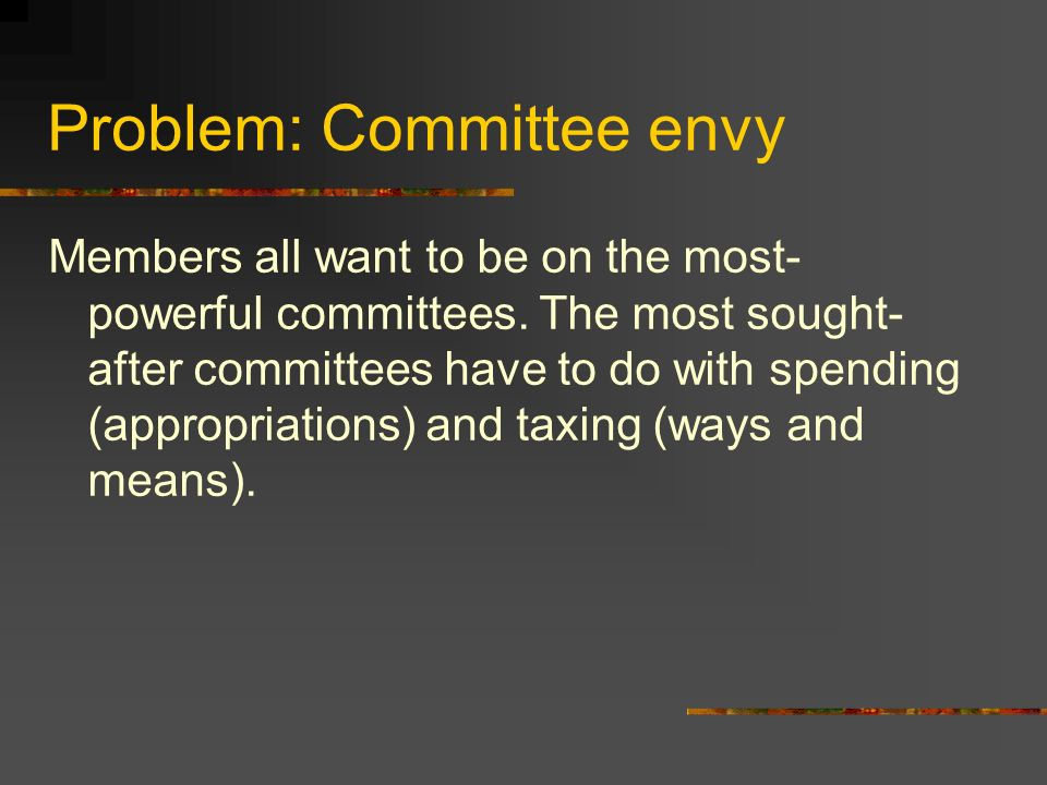 Problem: Committee envy