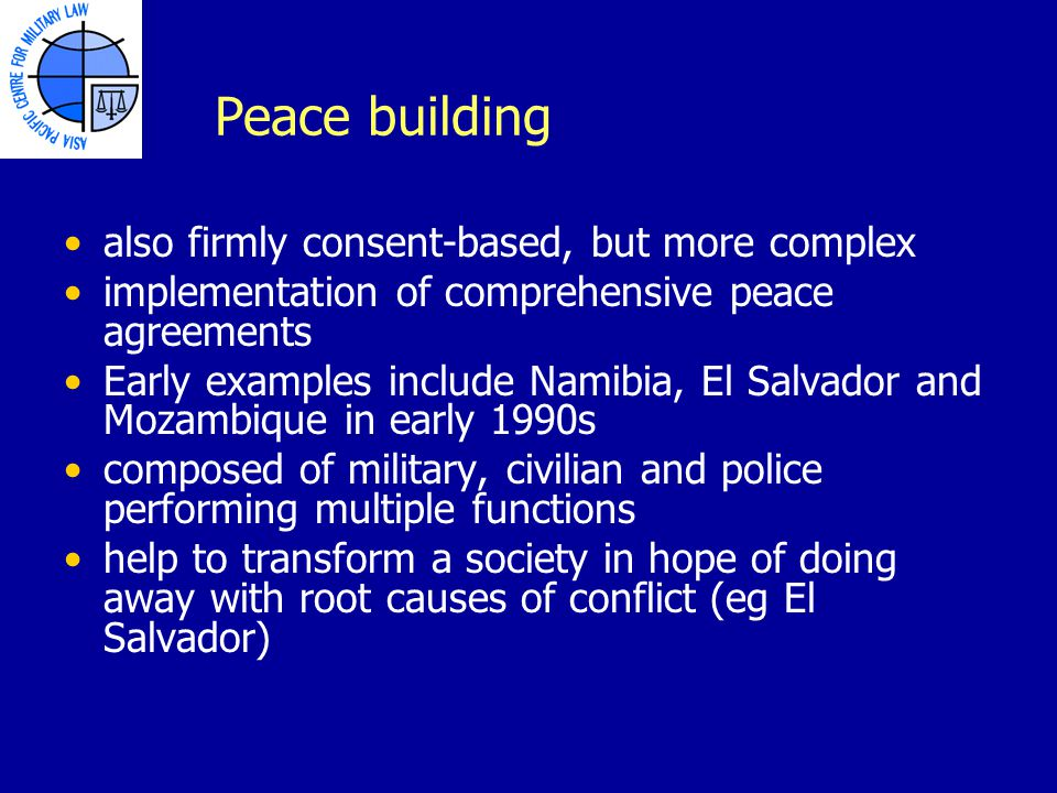 impact of a complex 1990s peacekeeping The 1990s, the un moved beyond traditional peacekeeping operations whose main focus had been on military functions such as monitoring ceasefire agreements or setting buffer zones between belligerents to more complex and multidimensional.