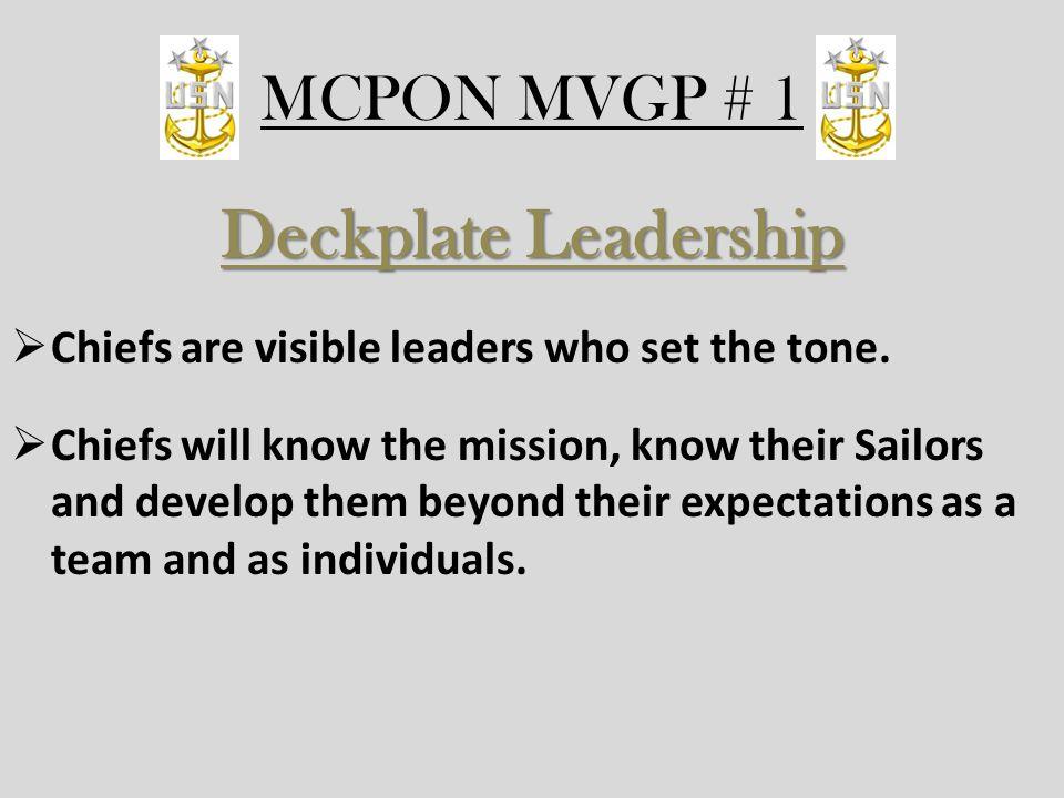 Deckplate Leadership MCPON MVGP # 1