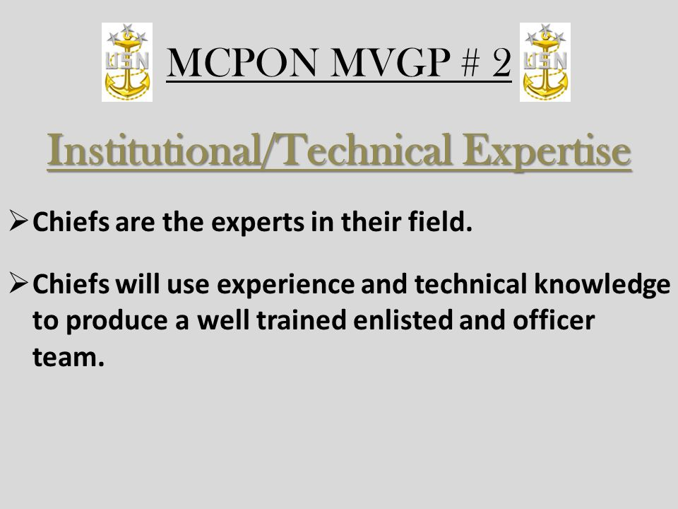 Institutional/Technical Expertise