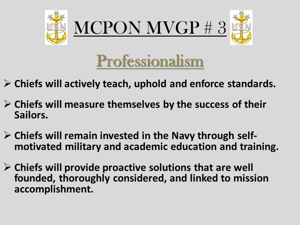 MCPON MVGP # 3 Professionalism