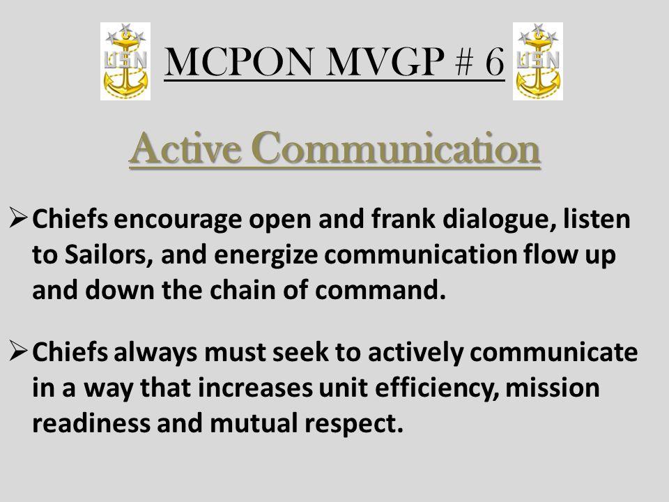 Active Communication MCPON MVGP # 6