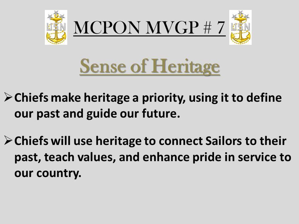 Sense of Heritage MCPON MVGP # 7