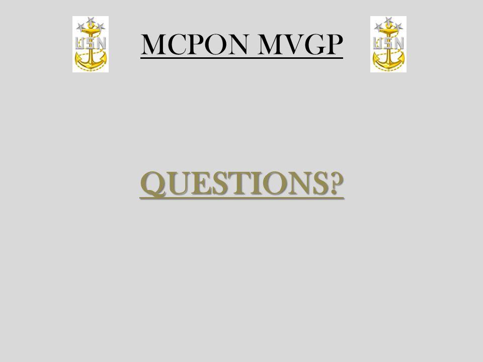 MCPON MVGP QUESTIONS