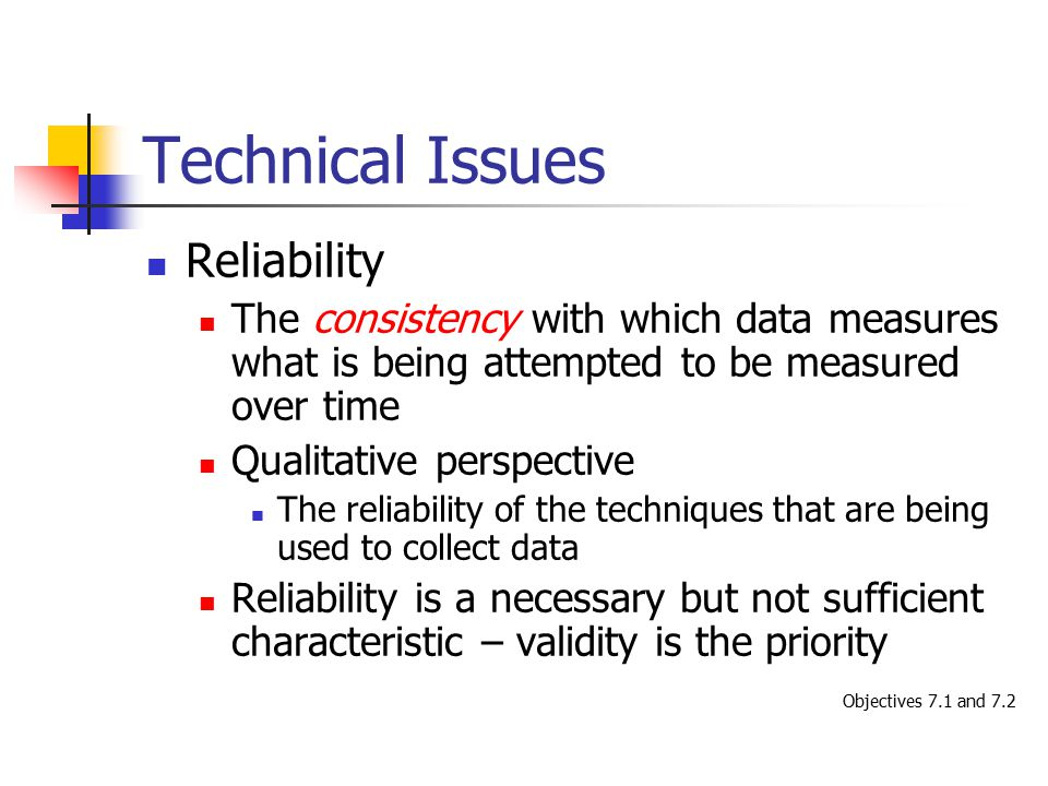 Technical Issues Reliability