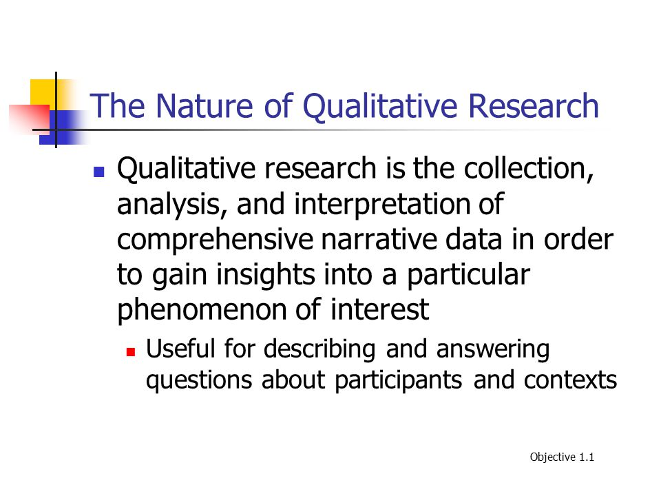 The Nature of Qualitative Research