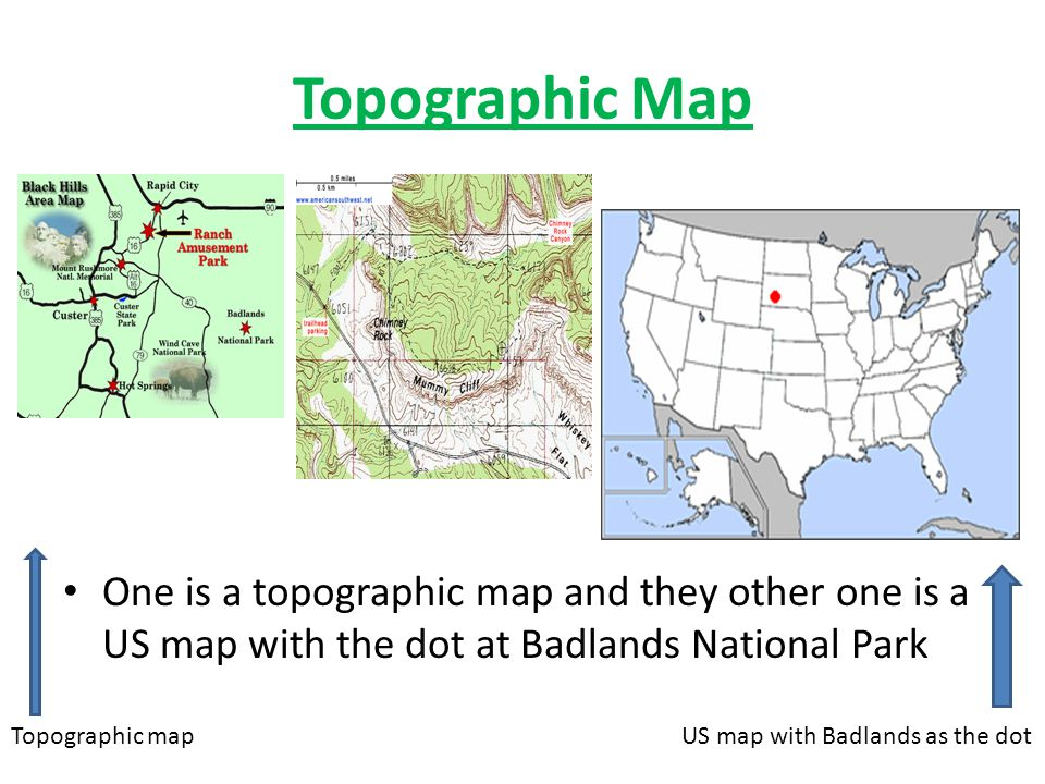 Topographic Map One Is A Topographic Map And They Other One Is A Us Map With