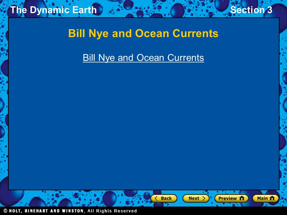 Bill Nye and Ocean Currents