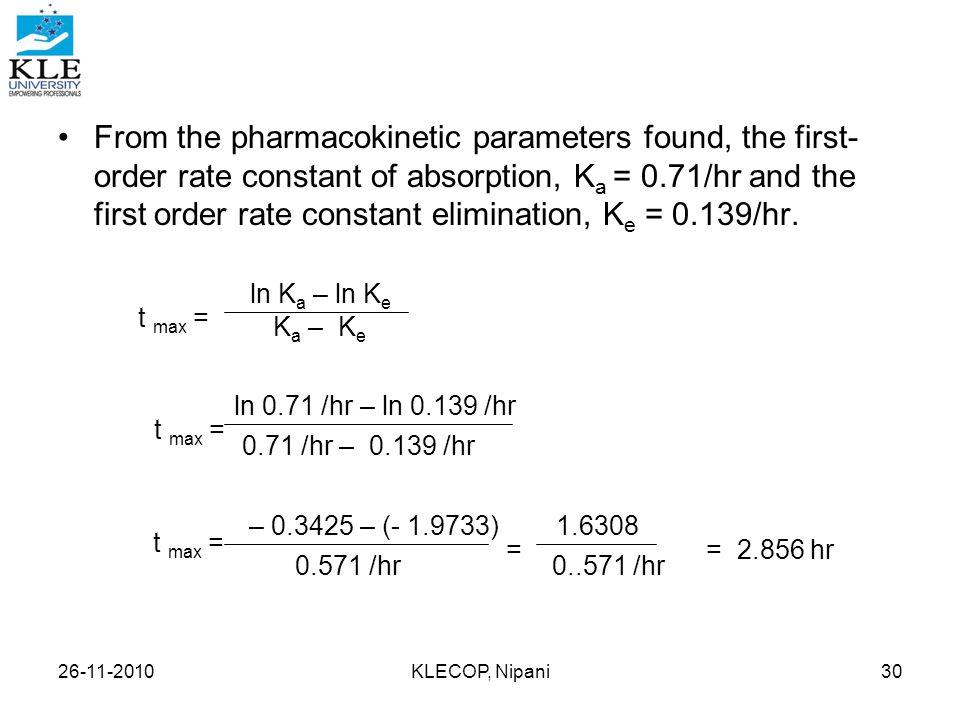 pharmacokinetics calculations ppt video online download. Black Bedroom Furniture Sets. Home Design Ideas