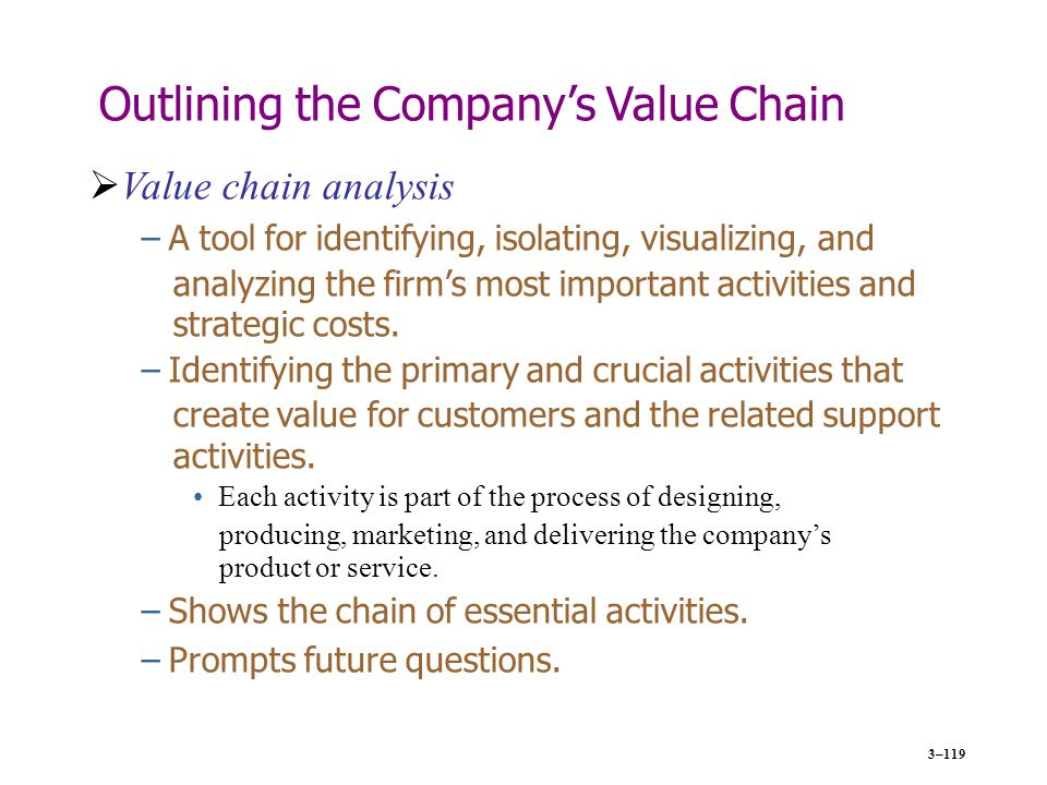 5 step value chain analysis for customers E value of planning in new venture creation (2007) 782 - 807 uncovering the value of planning in new venture creation: a process and contingency perspective marc gruber ecole polytechnique f d rale de lausanne, college of management of technology, chair of entrepreneurship and technology.