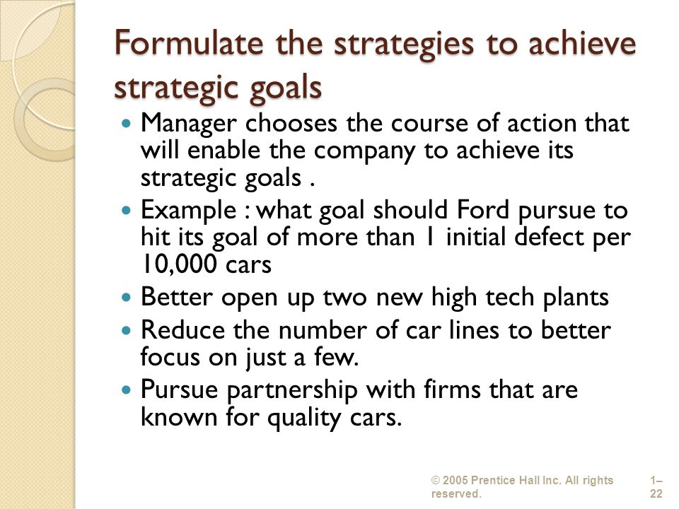 examples of different goals and how to achieve them