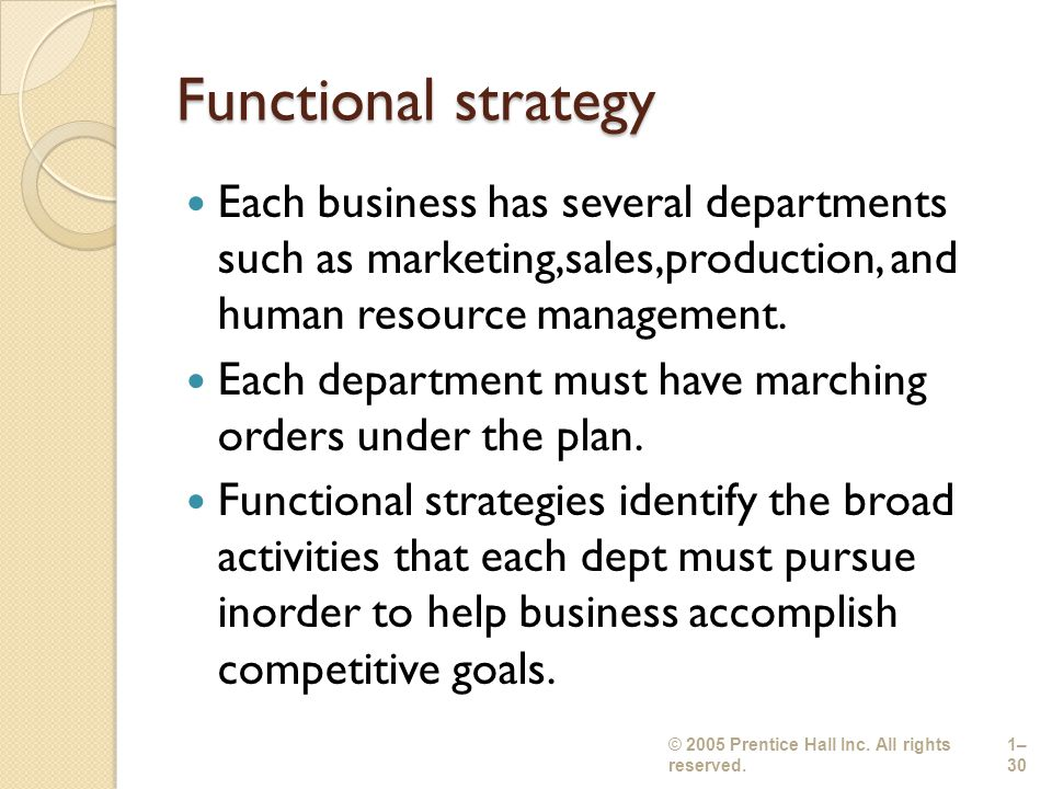 functional strategies in hotel industry Most organizations has a marketing division responsible for marketing strategy,  objectives and strategies for marketing activities of the organisation.