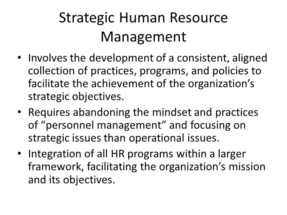 strategic hr practices and organizational performance Several researchers have recognized the aspects of hr practices and organizational performance within various industries (huselid, 1995 delery and doty, 1996 youndt et al, 1996 jayaram et al, 1999 fields et al, 2000 and guest et al, 2004) the important role of hr to improve organizational performance is more.