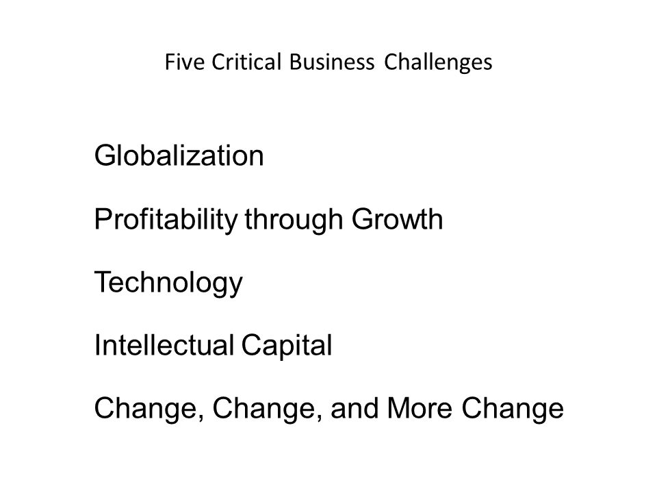 Five Critical Business Challenges