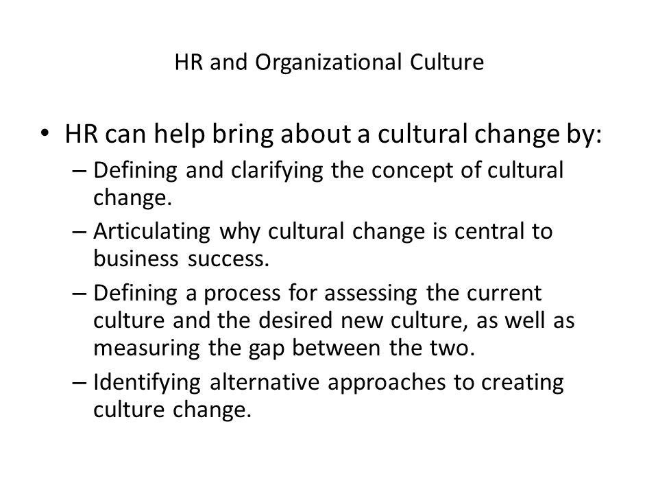 HR and Organizational Culture