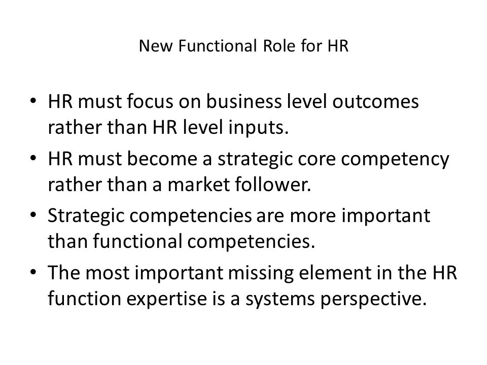 New Functional Role for HR