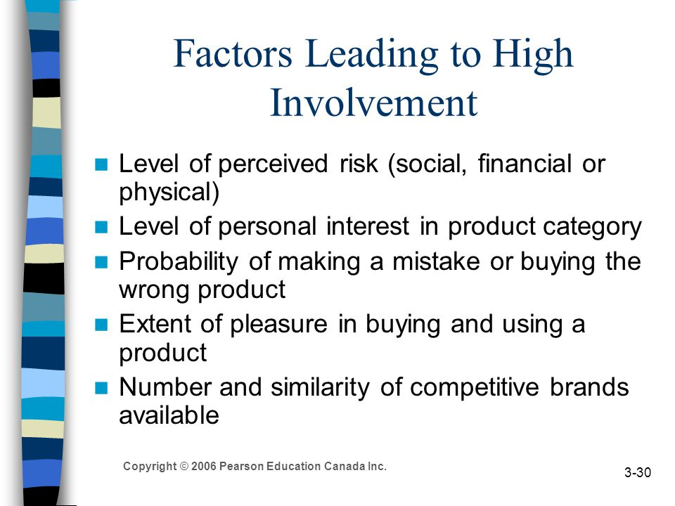 high involvement and low involvement purchase Other articles where high-involvement purchase is discussed: complex buying behaviour occurs when the consumer is highly involved with the purchase and when there are significant differences between brands.