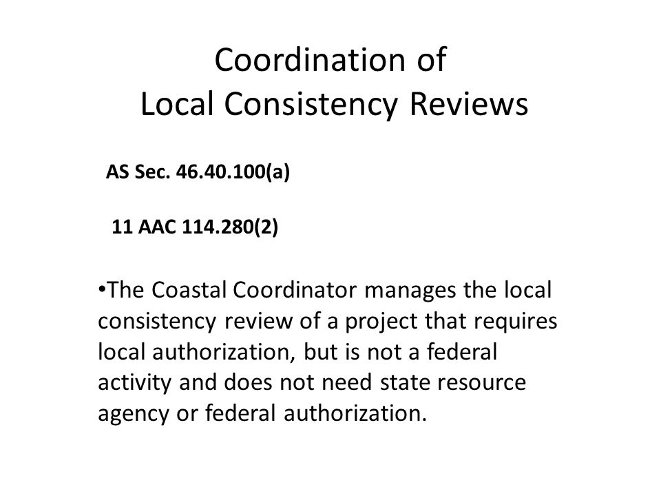 Local Consistency Reviews