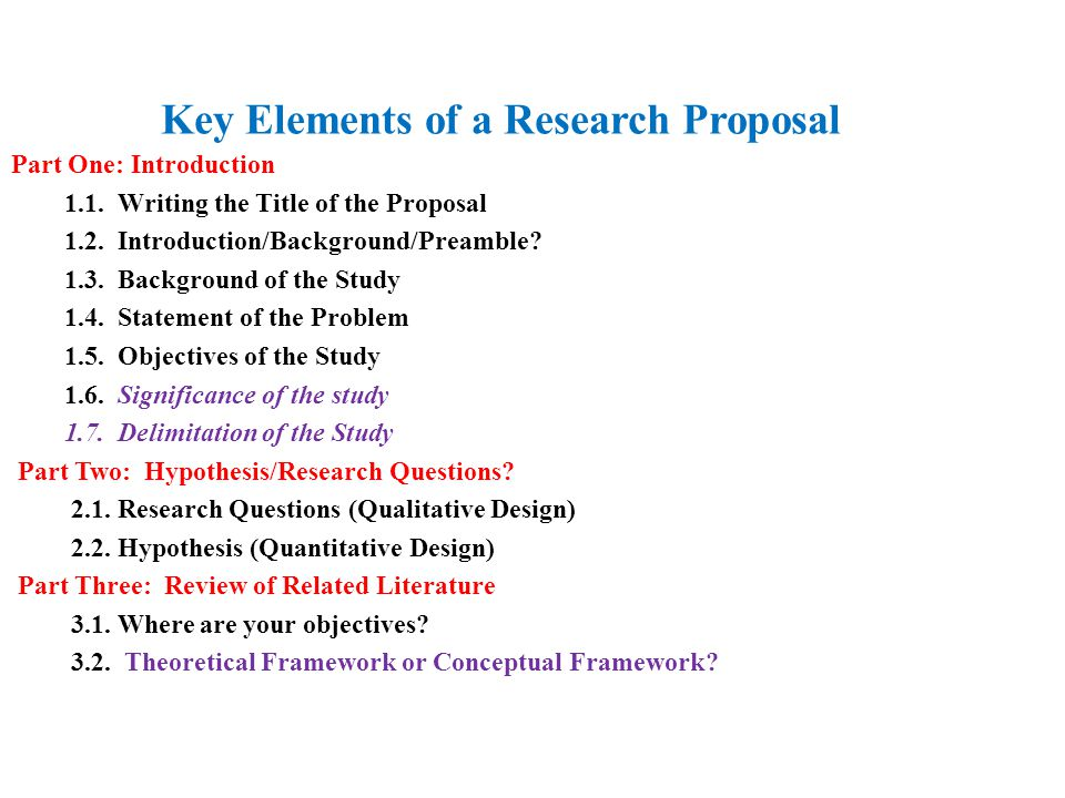 How to write research proposal ppt
