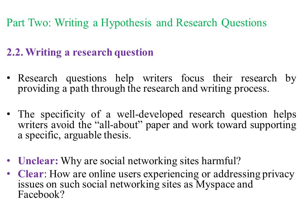 Writing research paper help questions