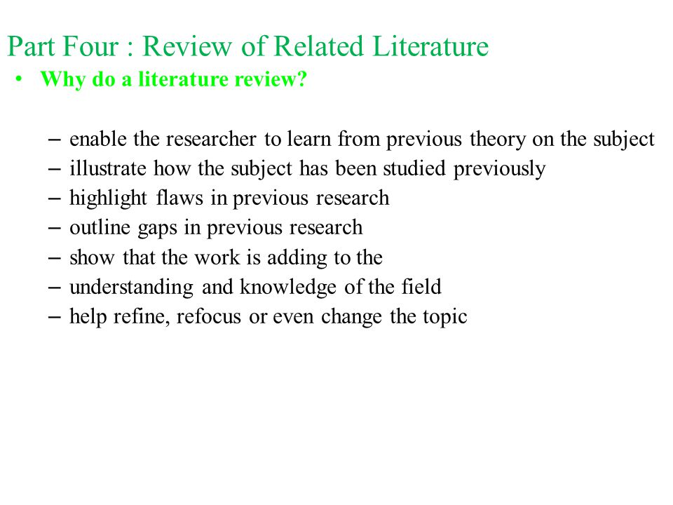 four important topics of literature Explain to you the importance of literature review following that, you will look at  the 4 steps in literature review after that, the topic will present to you the.