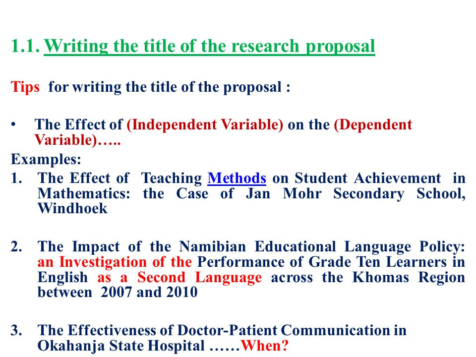English Research Proposal