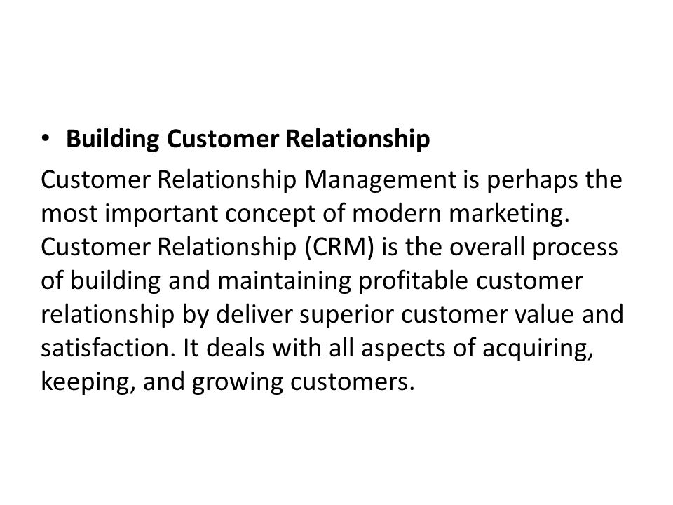 building profitable customer relationship with crm A customer relationship management (crm)  awareness, or building customer  to figure out details like who your largest and profitable customers.