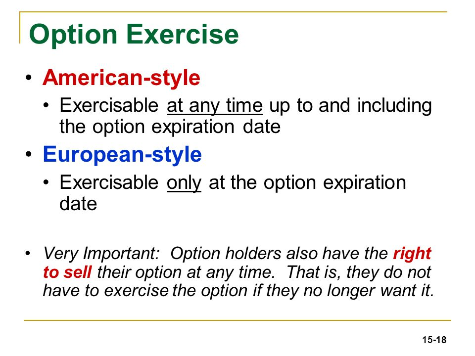 How do executives exercise stock options