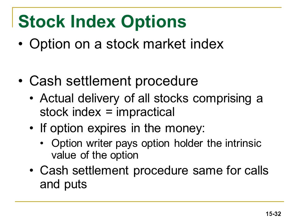 Stock options european style