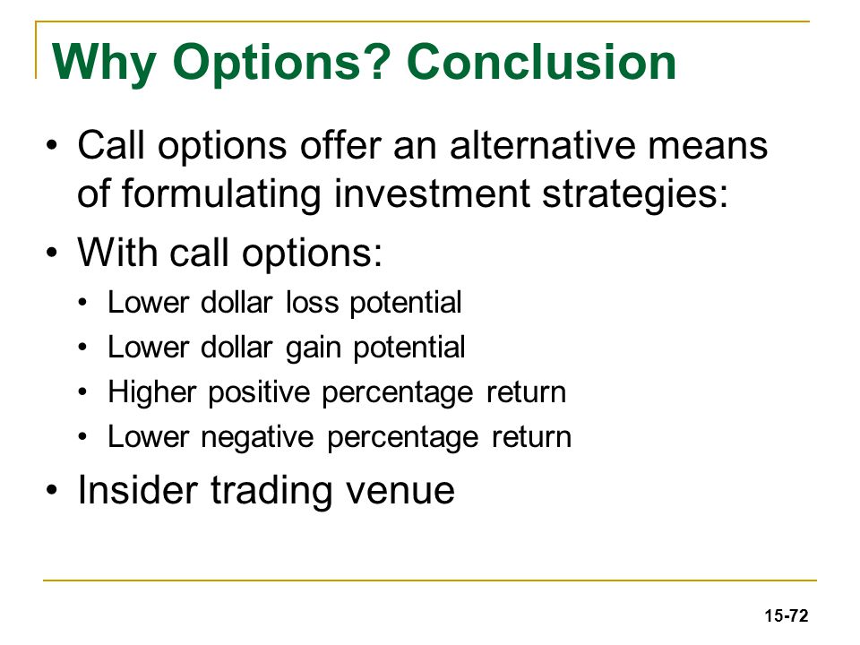Insider trading call options