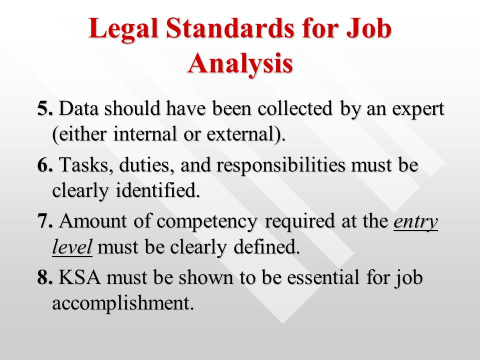 ch 6 job analysis If you would like to learn how to do a proper job analysis, then click here to view the article that can help you.
