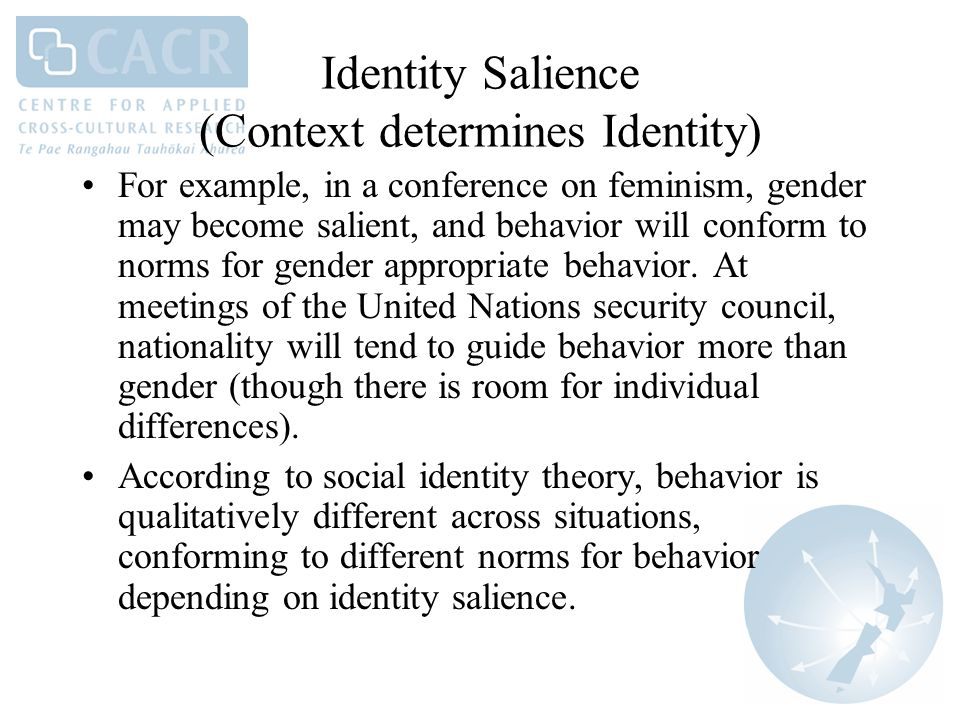 our individual identity is determined by Identity and belonging - expository essay our individual identity is determined by what others think of us our identity is comprised of inner qualities and outer representations of self.