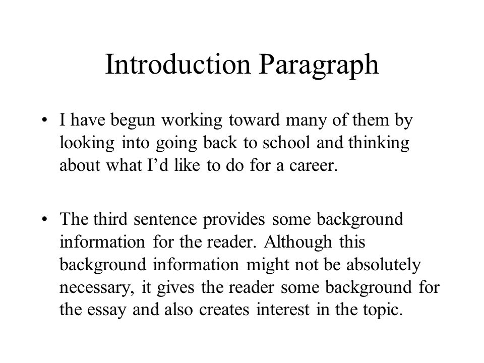 introduction conclusion paragraphs ppt video online  9 introduction paragraph