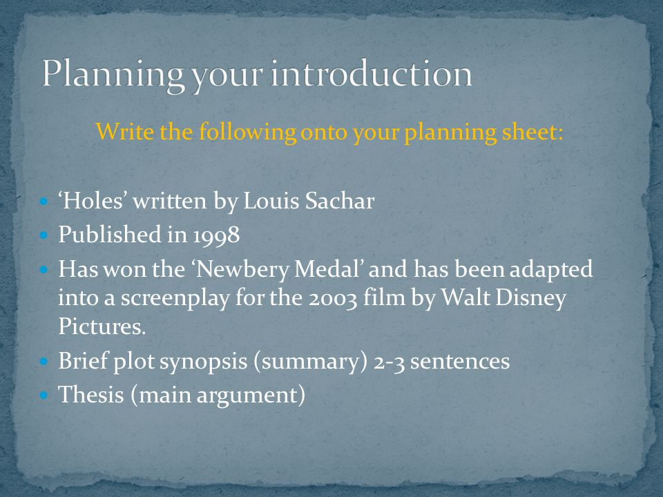 Holes Film Essay Term Paper Sample   Words  Hjtermpaperzogk  Holes Film Essay