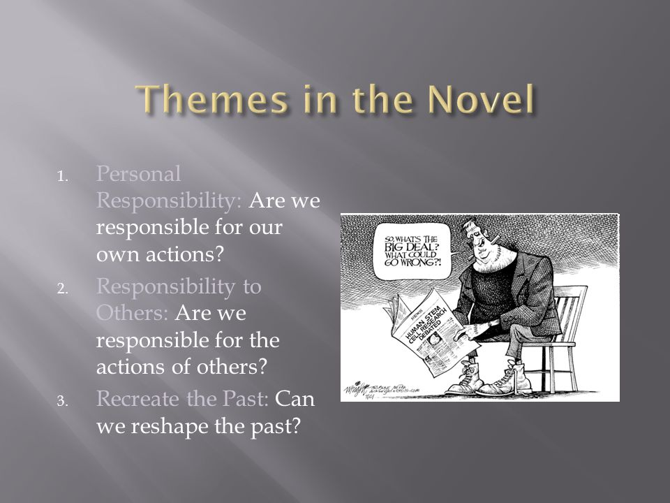 Themes in the Novel Personal Responsibility: Are we responsible for our own actions