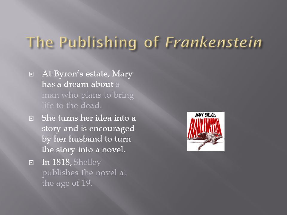 The Publishing of Frankenstein