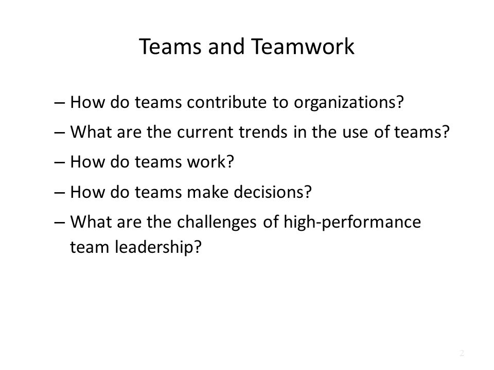 High performance organization